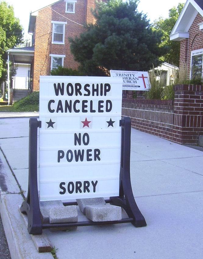 worship canceled