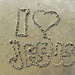 love jesus sand