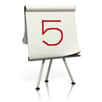 five easel paper lesson