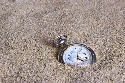 time watch sand buried