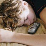 teen boy sleeping