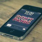 Don't Panic iPhone