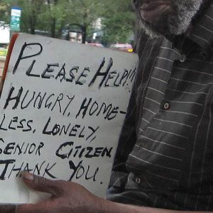 beg homeless poor