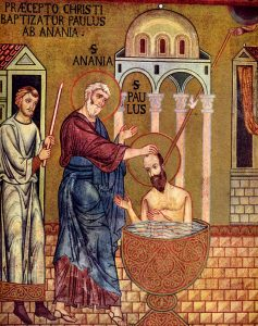 Baptism of Saul.Art in the Christian Tradition.cc